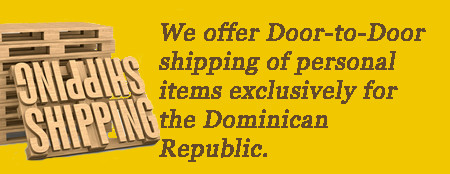 Door to door shipping service from Miami to Santo Domingo